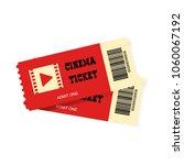 vector cinema ticket isolated... | Shutterstock .eps vector #1060067192