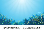 underwater background with... | Shutterstock .eps vector #1060068155