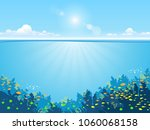 underwater background with... | Shutterstock .eps vector #1060068158