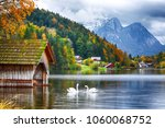 two white swans in crystal... | Shutterstock . vector #1060068752