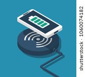 wireless charging for... | Shutterstock .eps vector #1060074182