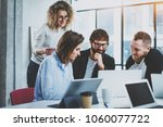 teamwork concept.young creative ... | Shutterstock . vector #1060077722