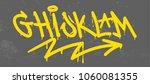 set street type calligraphy... | Shutterstock .eps vector #1060081355