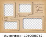 template for photo collage in... | Shutterstock .eps vector #1060088762