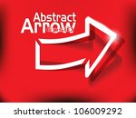 abstract realistic shiny arrow... | Shutterstock .eps vector #106009292