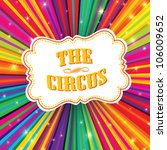Circus Label On Psychedelic...