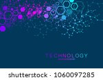 scientific molecule background... | Shutterstock .eps vector #1060097285