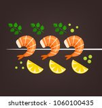 tasty fresh cooked fried... | Shutterstock .eps vector #1060100435