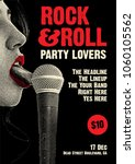 rock and roll party poster... | Shutterstock .eps vector #1060105562