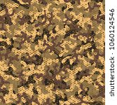 seamless camouflage pattern. ... | Shutterstock .eps vector #1060124546