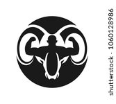 goat head with symbol of body... | Shutterstock .eps vector #1060128986
