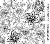 colorful floral seamless vector ... | Shutterstock .eps vector #1060139318