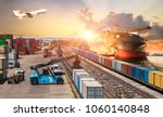 global business of container... | Shutterstock . vector #1060140848