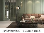 interior classic living  retro... | Shutterstock . vector #1060141016
