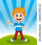 handsome little boy with...   Shutterstock . vector #1060144112