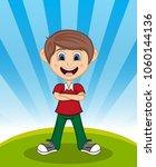 handsome little boy with...   Shutterstock . vector #1060144136