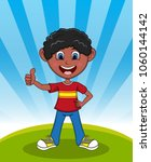 handsome little boy with...   Shutterstock . vector #1060144142