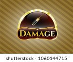 gold shiny badge with syringe... | Shutterstock .eps vector #1060144715