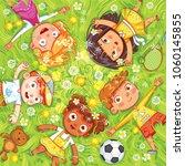 international children's day or ... | Shutterstock .eps vector #1060145855