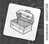 tool box doodle | Shutterstock .eps vector #1060147208