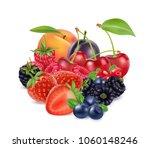 fresh berries and fruits. 3d...   Shutterstock .eps vector #1060148246