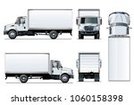vector truck template isolated... | Shutterstock .eps vector #1060158398