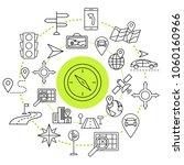 navigation outline web icons... | Shutterstock .eps vector #1060160966