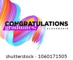 congratulations graduates class ... | Shutterstock .eps vector #1060171505
