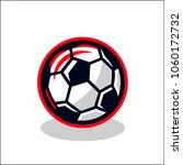 vector illustration of a soccer ... | Shutterstock .eps vector #1060172732