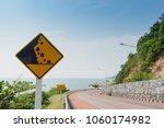 Caution Falling Rocks Sign...