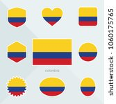colombia flag. national flag of ... | Shutterstock .eps vector #1060175765