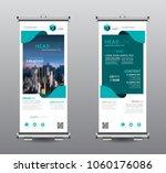 roll up banner standee business ...   Shutterstock .eps vector #1060176086