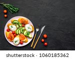 homemade sandwiches with french ... | Shutterstock . vector #1060185362