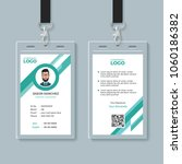 company identity card design... | Shutterstock .eps vector #1060186382