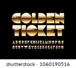 vector luxury text golden... | Shutterstock .eps vector #1060190516