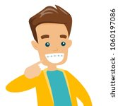 young happy caucasian white man ...   Shutterstock .eps vector #1060197086