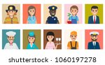 professions people vector icons ... | Shutterstock .eps vector #1060197278