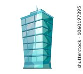 skyscraper glass building... | Shutterstock .eps vector #1060197395