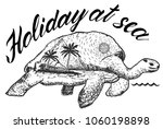 holidays at the sea. typography ... | Shutterstock .eps vector #1060198898
