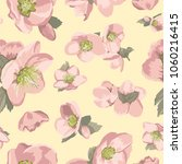 soft floral pattern featuring... | Shutterstock .eps vector #1060216415