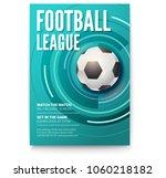 poster of tournament football... | Shutterstock .eps vector #1060218182