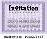 violet formal invitation...   Shutterstock .eps vector #1060218635