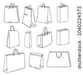 vector set of sketch shopping... | Shutterstock .eps vector #1060224575