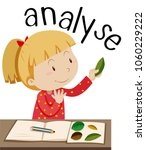 flashcard for word analyse with ... | Shutterstock .eps vector #1060229222