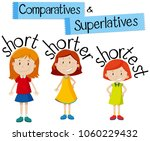 comparatives and superlatives... | Shutterstock .eps vector #1060229432