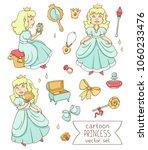 cartoon princess vector set ...   Shutterstock .eps vector #1060233476