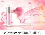 cosmetic essence ads  pink... | Shutterstock .eps vector #1060248746