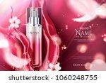 spray essence ads  red gradient ... | Shutterstock .eps vector #1060248755