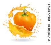 orange bulgarian pepper bell... | Shutterstock .eps vector #1060255415