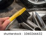 cleaning of alloy or aluminium... | Shutterstock . vector #1060266632